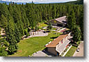 Aerial photo of Montana campground