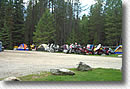 Group of motorcycle campers